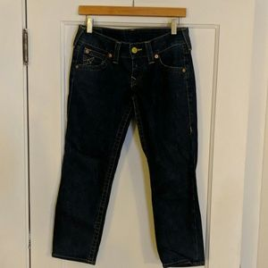 True Religion cropped jeans, size 27